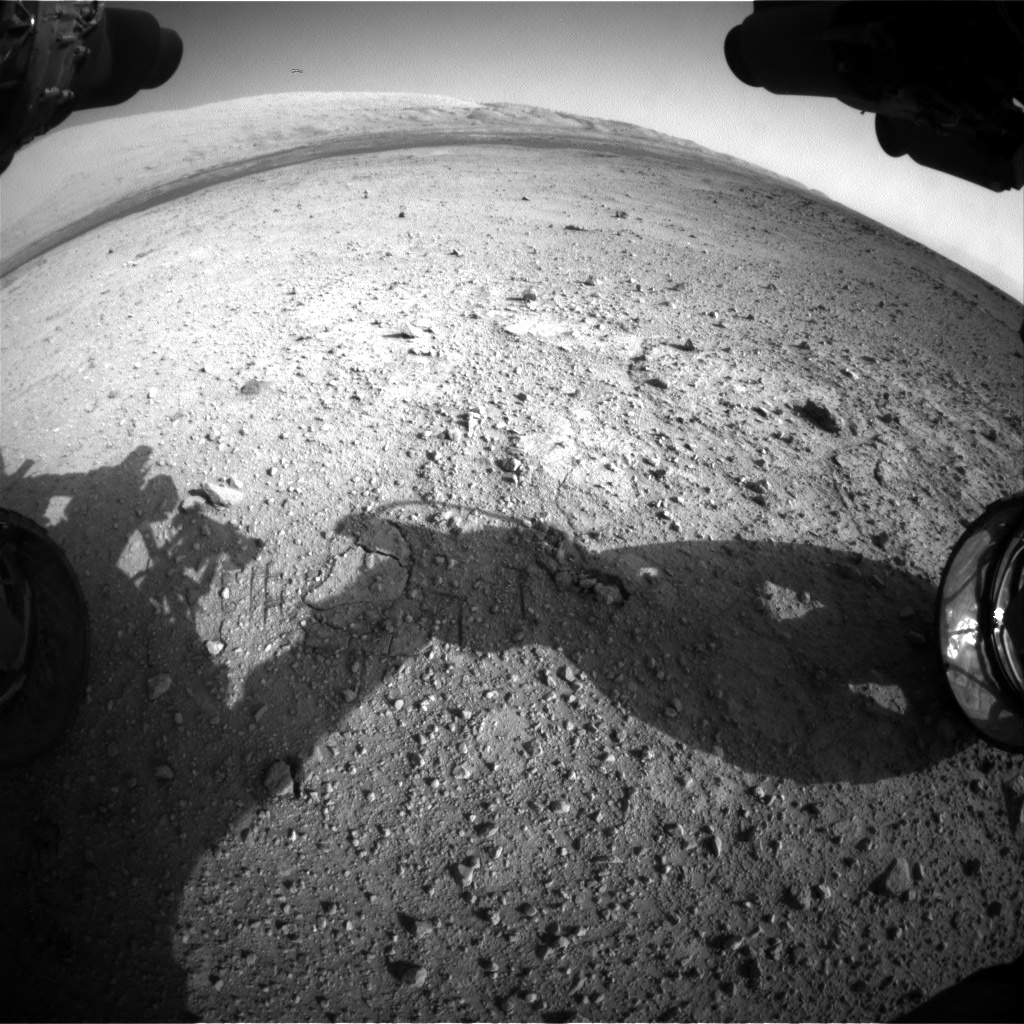 Nasa's Mars rover Curiosity acquired this image using its Front Hazard Avoidance Camera (Front Hazcam) on Sol 422, at drive 320, site number 19