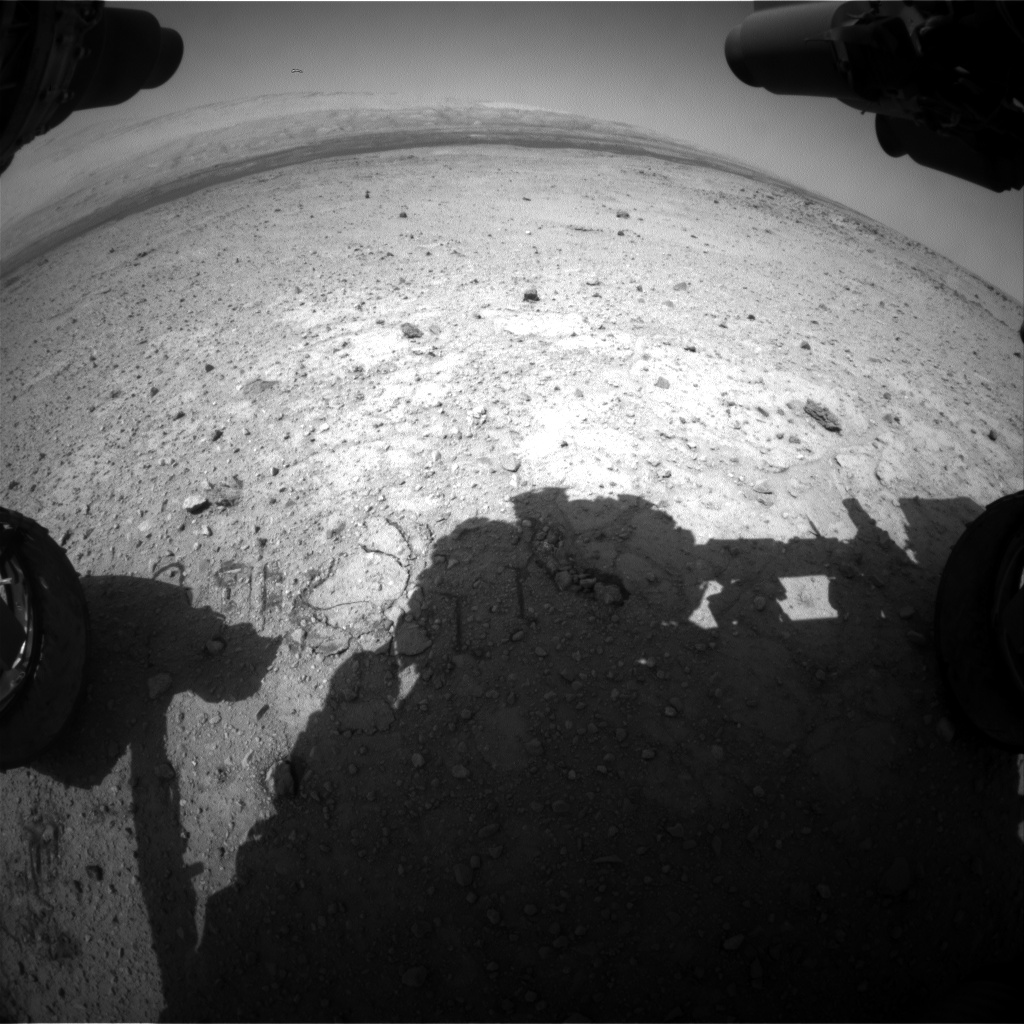Nasa's Mars rover Curiosity acquired this image using its Front Hazard Avoidance Camera (Front Hazcam) on Sol 423, at drive 320, site number 19