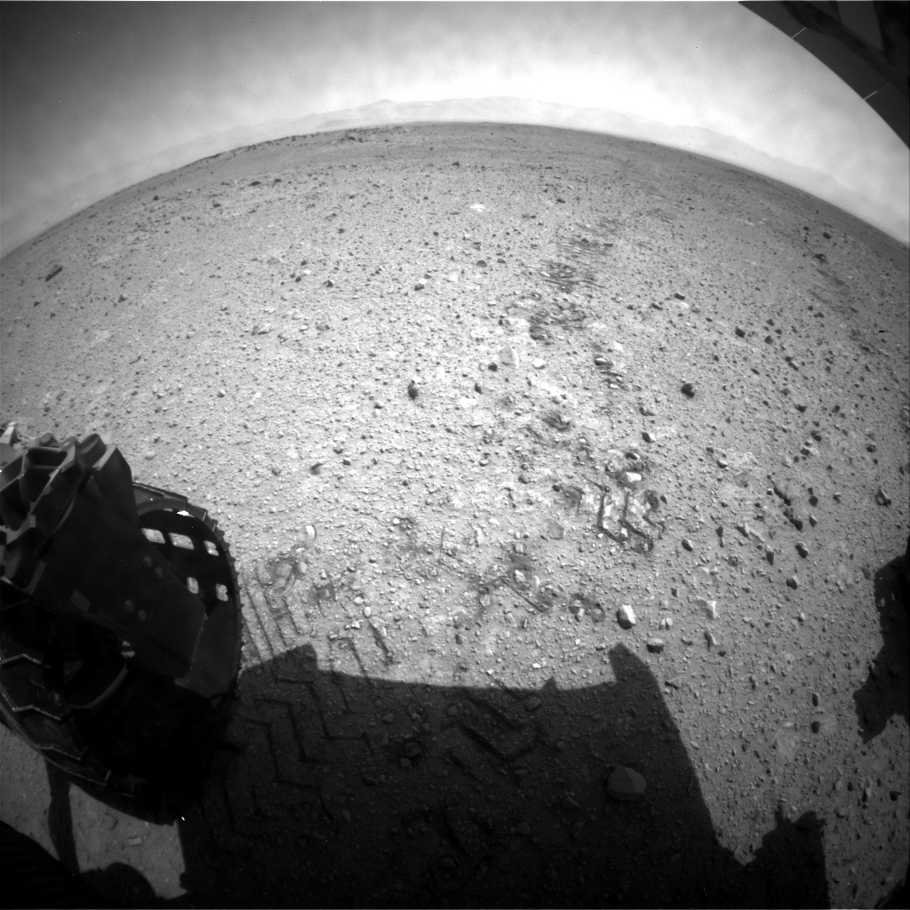 NASA's Mars rover Curiosity acquired this image using its Rear Hazard Avoidance Cameras (Rear Hazcams) on Sol 423
