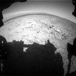 Nasa's Mars rover Curiosity acquired this image using its Front Hazard Avoidance Camera (Front Hazcam) on Sol 424, at drive 488, site number 19