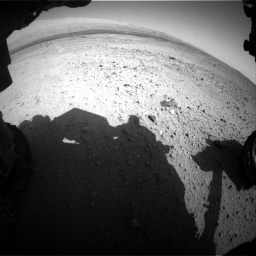 Nasa's Mars rover Curiosity acquired this image using its Front Hazard Avoidance Camera (Front Hazcam) on Sol 424, at drive 584, site number 19