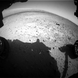 Nasa's Mars rover Curiosity acquired this image using its Front Hazard Avoidance Camera (Front Hazcam) on Sol 424, at drive 620, site number 19