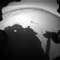 Nasa's Mars rover Curiosity acquired this image using its Front Hazard Avoidance Camera (Front Hazcam) on Sol 424, at drive 764, site number 19