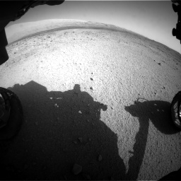 Nasa's Mars rover Curiosity acquired this image using its Front Hazard Avoidance Camera (Front Hazcam) on Sol 424, at drive 782, site number 19