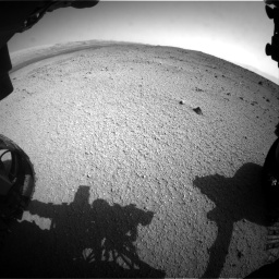 Nasa's Mars rover Curiosity acquired this image using its Front Hazard Avoidance Camera (Front Hazcam) on Sol 424, at drive 800, site number 19