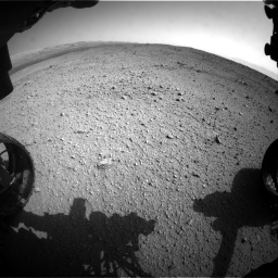 Nasa's Mars rover Curiosity acquired this image using its Front Hazard Avoidance Camera (Front Hazcam) on Sol 424, at drive 836, site number 19