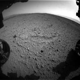 Nasa's Mars rover Curiosity acquired this image using its Front Hazard Avoidance Camera (Front Hazcam) on Sol 424, at drive 908, site number 19