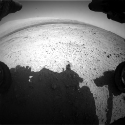 Nasa's Mars rover Curiosity acquired this image using its Front Hazard Avoidance Camera (Front Hazcam) on Sol 424, at drive 494, site number 19