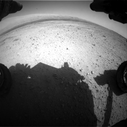 Nasa's Mars rover Curiosity acquired this image using its Front Hazard Avoidance Camera (Front Hazcam) on Sol 424, at drive 512, site number 19