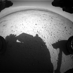 Nasa's Mars rover Curiosity acquired this image using its Front Hazard Avoidance Camera (Front Hazcam) on Sol 424, at drive 530, site number 19