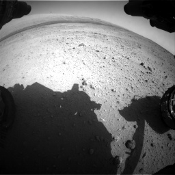 Nasa's Mars rover Curiosity acquired this image using its Front Hazard Avoidance Camera (Front Hazcam) on Sol 424, at drive 566, site number 19