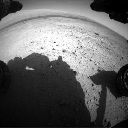 Nasa's Mars rover Curiosity acquired this image using its Front Hazard Avoidance Camera (Front Hazcam) on Sol 424, at drive 602, site number 19