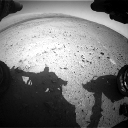 Nasa's Mars rover Curiosity acquired this image using its Front Hazard Avoidance Camera (Front Hazcam) on Sol 424, at drive 656, site number 19