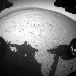 Nasa's Mars rover Curiosity acquired this image using its Front Hazard Avoidance Camera (Front Hazcam) on Sol 424, at drive 674, site number 19