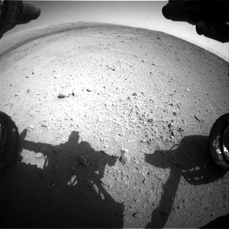 Nasa's Mars rover Curiosity acquired this image using its Front Hazard Avoidance Camera (Front Hazcam) on Sol 424, at drive 692, site number 19