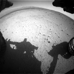 Nasa's Mars rover Curiosity acquired this image using its Front Hazard Avoidance Camera (Front Hazcam) on Sol 424, at drive 710, site number 19