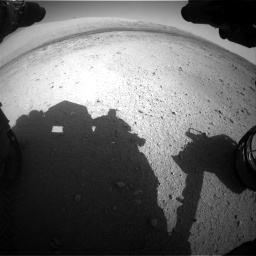 Nasa's Mars rover Curiosity acquired this image using its Front Hazard Avoidance Camera (Front Hazcam) on Sol 424, at drive 728, site number 19