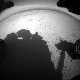 Nasa's Mars rover Curiosity acquired this image using its Front Hazard Avoidance Camera (Front Hazcam) on Sol 424, at drive 746, site number 19