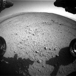 Nasa's Mars rover Curiosity acquired this image using its Front Hazard Avoidance Camera (Front Hazcam) on Sol 424, at drive 854, site number 19