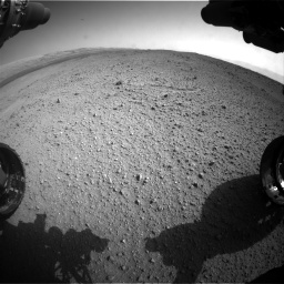Nasa's Mars rover Curiosity acquired this image using its Front Hazard Avoidance Camera (Front Hazcam) on Sol 424, at drive 890, site number 19