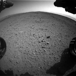 Nasa's Mars rover Curiosity acquired this image using its Front Hazard Avoidance Camera (Front Hazcam) on Sol 424, at drive 926, site number 19