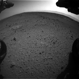 Nasa's Mars rover Curiosity acquired this image using its Front Hazard Avoidance Camera (Front Hazcam) on Sol 424, at drive 962, site number 19