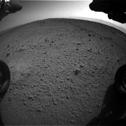 Nasa's Mars rover Curiosity acquired this image using its Front Hazard Avoidance Camera (Front Hazcam) on Sol 424, at drive 980, site number 19