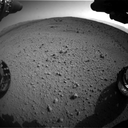 Nasa's Mars rover Curiosity acquired this image using its Front Hazard Avoidance Camera (Front Hazcam) on Sol 424, at drive 1034, site number 19