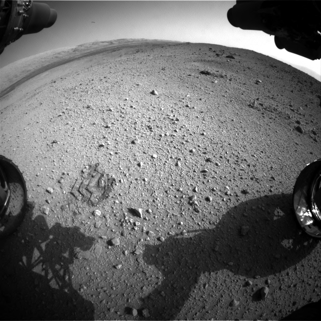 Nasa's Mars rover Curiosity acquired this image using its Front Hazard Avoidance Camera (Front Hazcam) on Sol 424, at drive 1066, site number 19