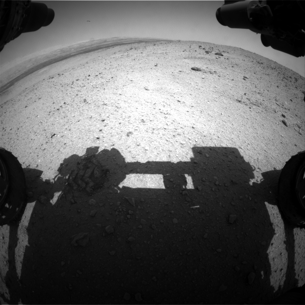 Nasa's Mars rover Curiosity acquired this image using its Front Hazard Avoidance Camera (Front Hazcam) on Sol 425, at drive 1066, site number 19