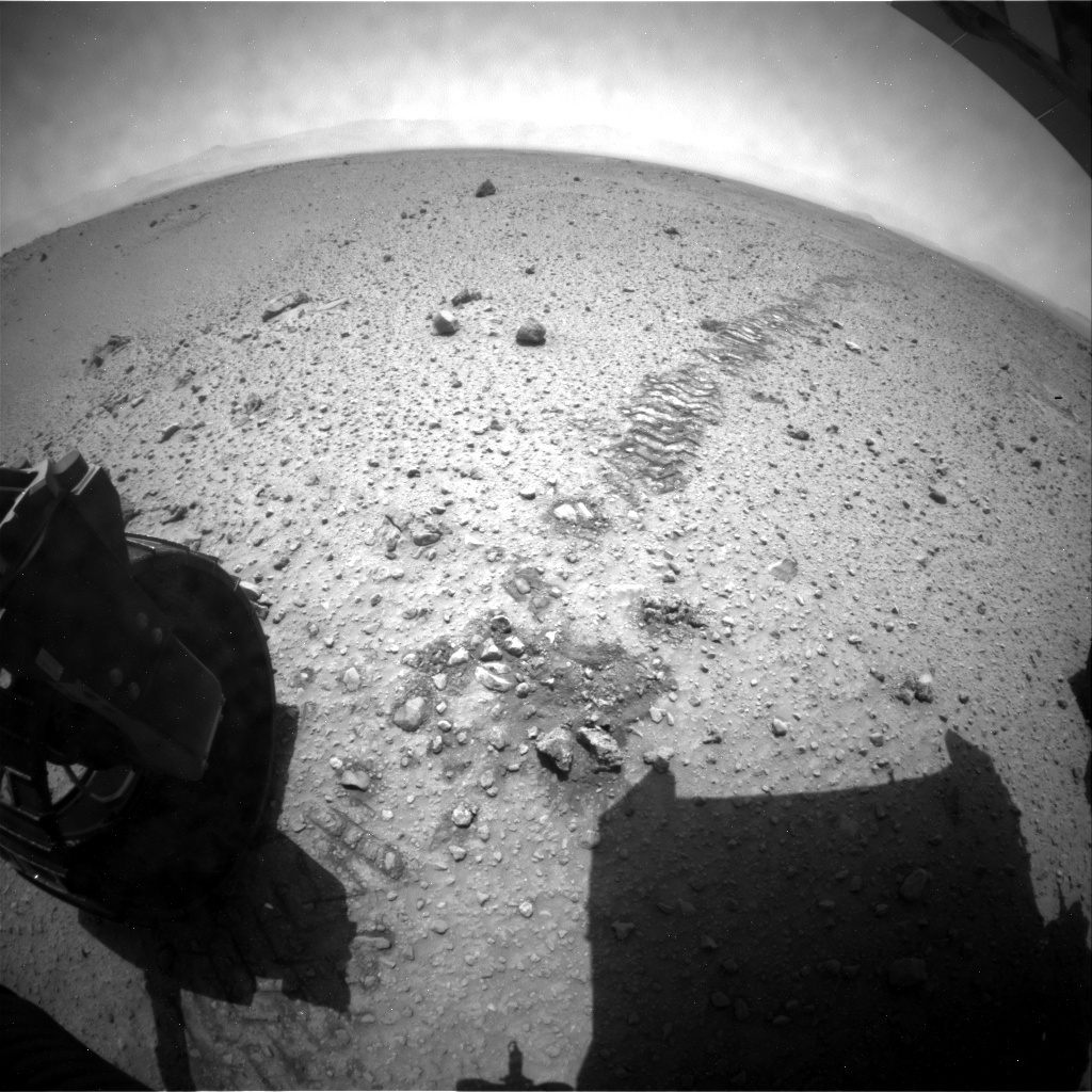 NASA's Mars rover Curiosity acquired this image using its Rear Hazard Avoidance Cameras (Rear Hazcams) on Sol 425
