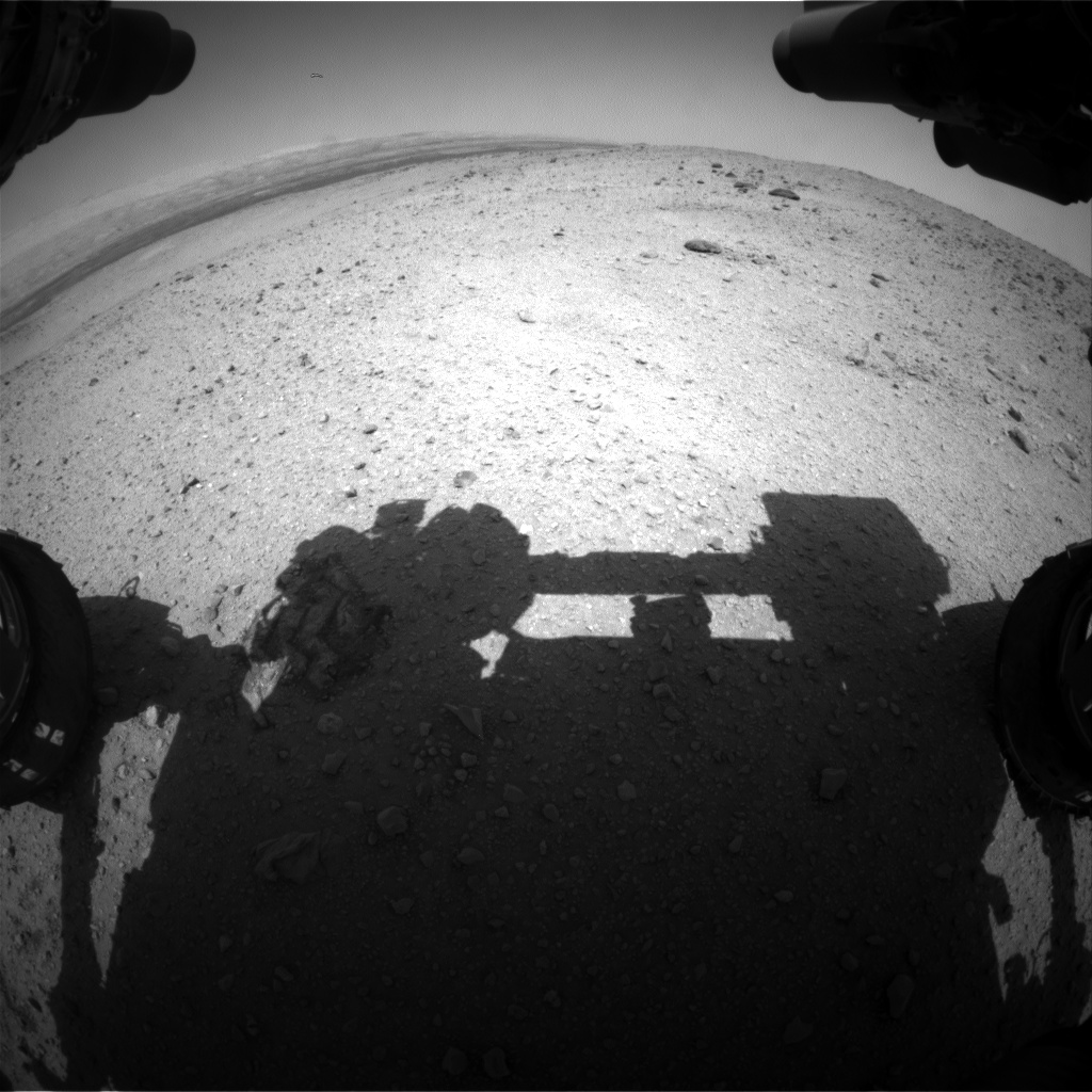 Nasa's Mars rover Curiosity acquired this image using its Front Hazard Avoidance Camera (Front Hazcam) on Sol 426, at drive 1066, site number 19