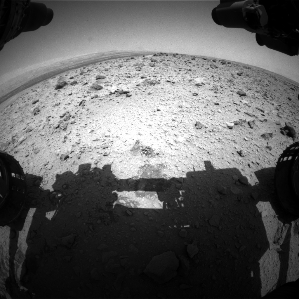 Nasa's Mars rover Curiosity acquired this image using its Front Hazard Avoidance Camera (Front Hazcam) on Sol 427, at drive 0, site number 20