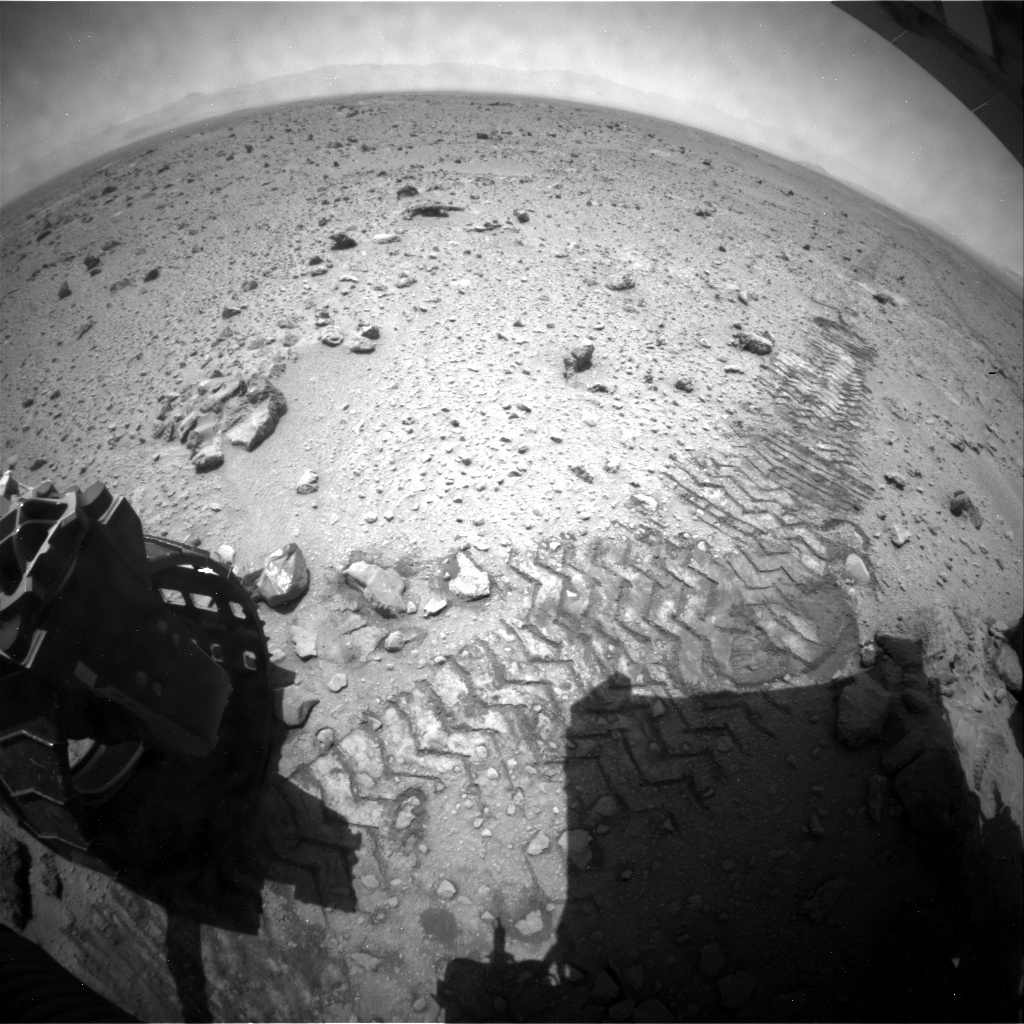 NASA's Mars rover Curiosity acquired this image using its Rear Hazard Avoidance Cameras (Rear Hazcams) on Sol 427