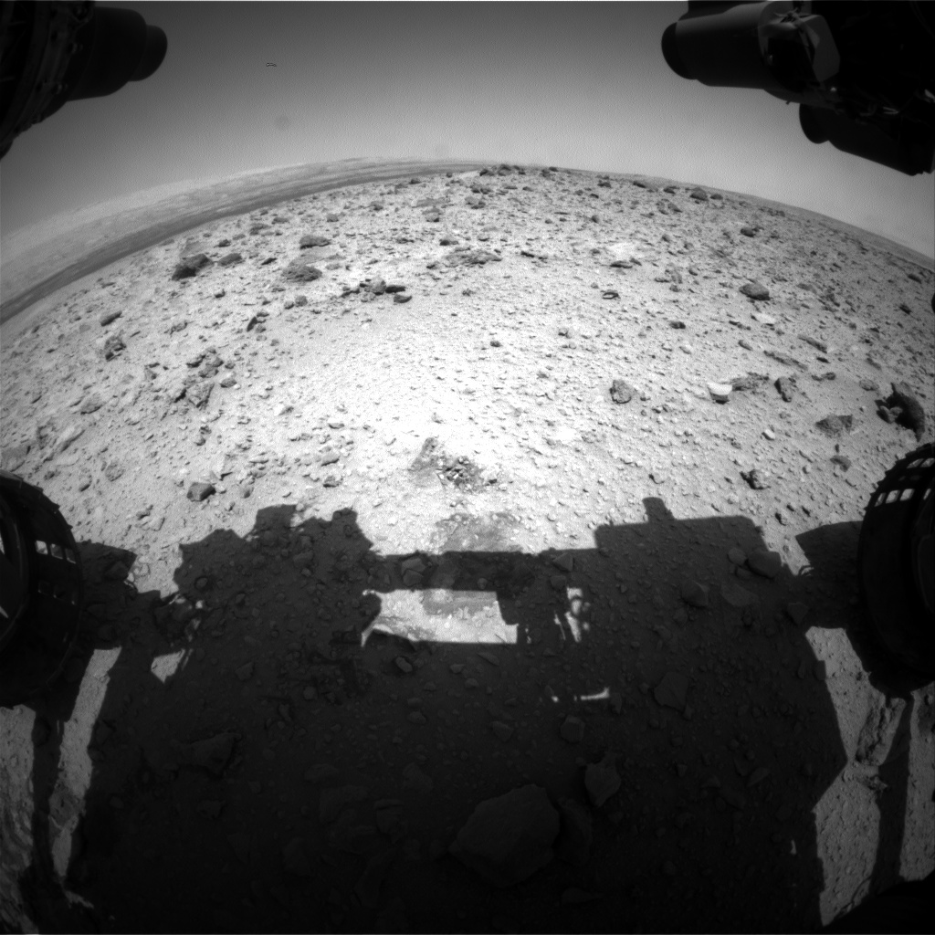 Nasa's Mars rover Curiosity acquired this image using its Front Hazard Avoidance Camera (Front Hazcam) on Sol 429, at drive 0, site number 20