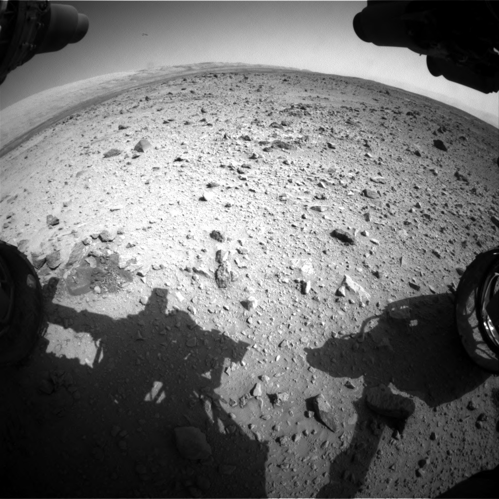Nasa's Mars rover Curiosity acquired this image using its Front Hazard Avoidance Camera (Front Hazcam) on Sol 429, at drive 256, site number 20