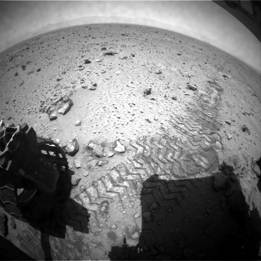 NASA's Mars rover Curiosity acquired this image using its Rear Hazard Avoidance Cameras (Rear Hazcams) on Sol 429