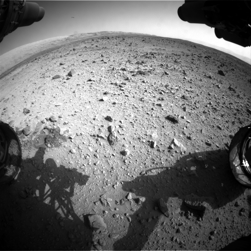 Nasa's Mars rover Curiosity acquired this image using its Front Hazard Avoidance Camera (Front Hazcam) on Sol 430, at drive 256, site number 20