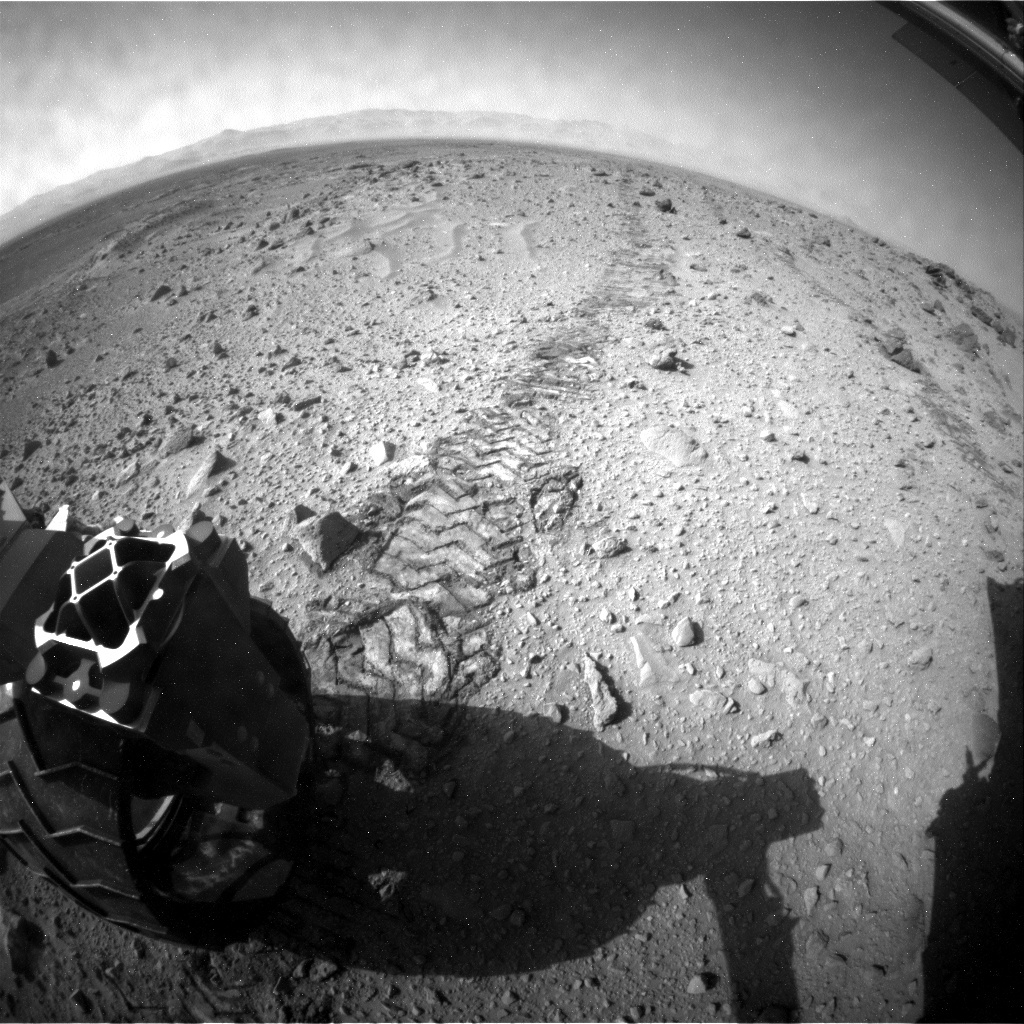 NASA's Mars rover Curiosity acquired this image using its Rear Hazard Avoidance Cameras (Rear Hazcams) on Sol 430