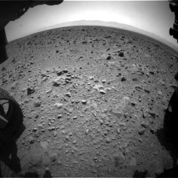 Nasa's Mars rover Curiosity acquired this image using its Front Hazard Avoidance Camera (Front Hazcam) on Sol 431, at drive 730, site number 20