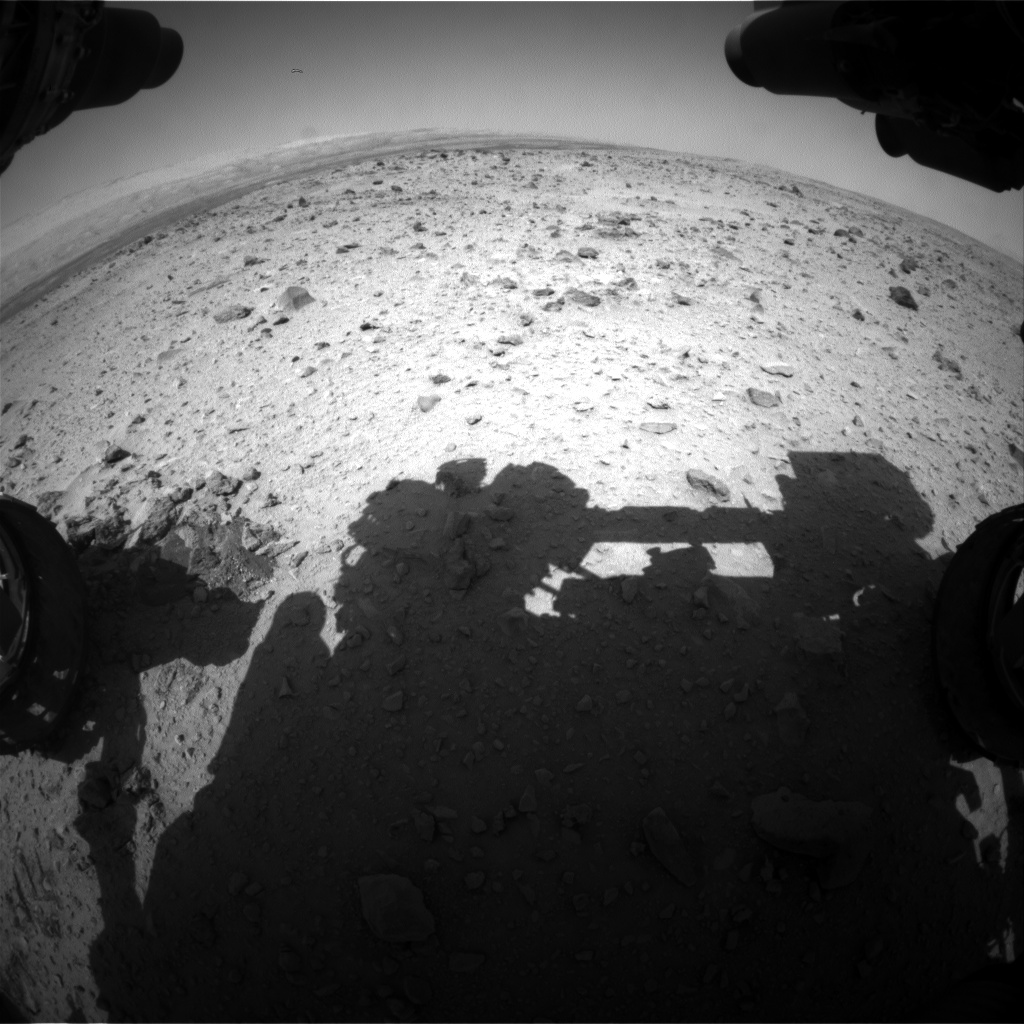 Nasa's Mars rover Curiosity acquired this image using its Front Hazard Avoidance Camera (Front Hazcam) on Sol 431, at drive 256, site number 20
