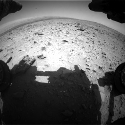 Nasa's Mars rover Curiosity acquired this image using its Front Hazard Avoidance Camera (Front Hazcam) on Sol 431, at drive 526, site number 20
