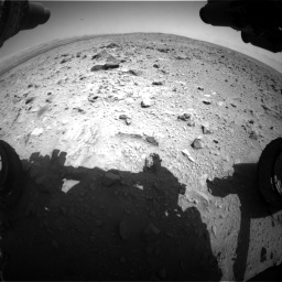 Nasa's Mars rover Curiosity acquired this image using its Front Hazard Avoidance Camera (Front Hazcam) on Sol 431, at drive 550, site number 20