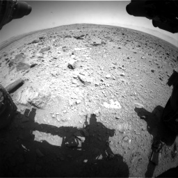 Nasa's Mars rover Curiosity acquired this image using its Front Hazard Avoidance Camera (Front Hazcam) on Sol 431, at drive 574, site number 20
