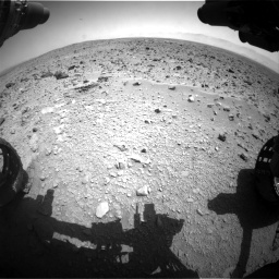 Nasa's Mars rover Curiosity acquired this image using its Front Hazard Avoidance Camera (Front Hazcam) on Sol 431, at drive 586, site number 20