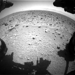 Nasa's Mars rover Curiosity acquired this image using its Front Hazard Avoidance Camera (Front Hazcam) on Sol 431, at drive 592, site number 20