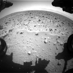 Nasa's Mars rover Curiosity acquired this image using its Front Hazard Avoidance Camera (Front Hazcam) on Sol 431, at drive 598, site number 20