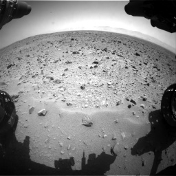 Nasa's Mars rover Curiosity acquired this image using its Front Hazard Avoidance Camera (Front Hazcam) on Sol 431, at drive 604, site number 20