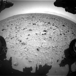 Nasa's Mars rover Curiosity acquired this image using its Front Hazard Avoidance Camera (Front Hazcam) on Sol 431, at drive 610, site number 20