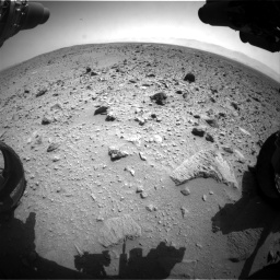 Nasa's Mars rover Curiosity acquired this image using its Front Hazard Avoidance Camera (Front Hazcam) on Sol 431, at drive 676, site number 20